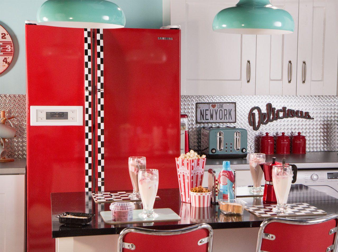 Kühlschrank Folie : D c home setze mit einem bunten kühlschrank ein farbliches