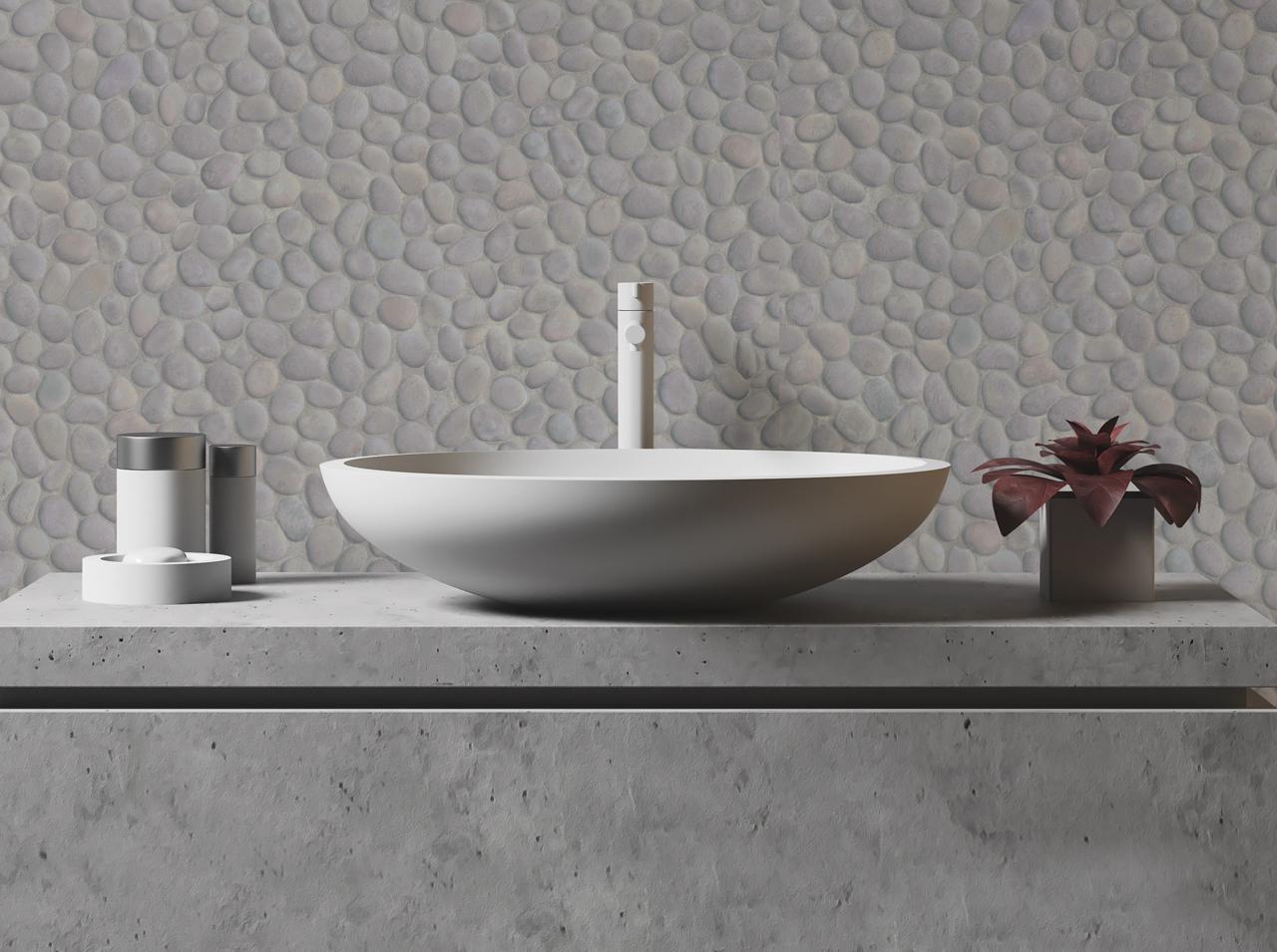 D C Home Nowy Trend W łazience Przyciągający Uwagę Beton