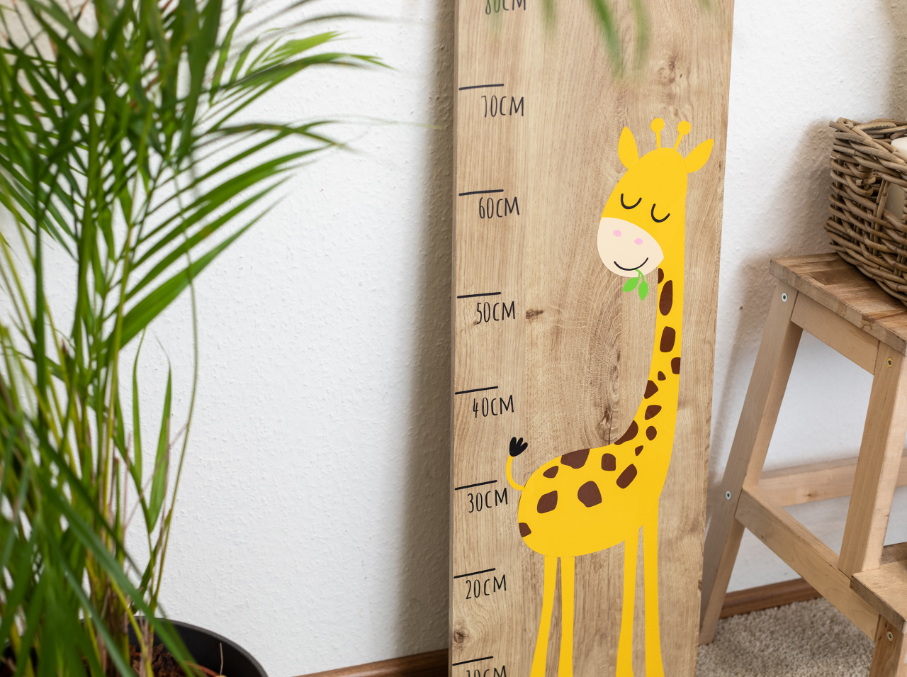 D C Home Drewniana Miarka Wzrostu Dzieci Jako Projekt Diy