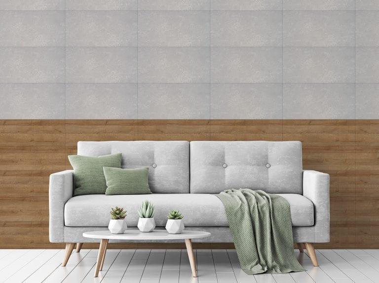 dcfix Wand TileArt DIY Deko Wohnzimmer Wandbelag Holz Stein