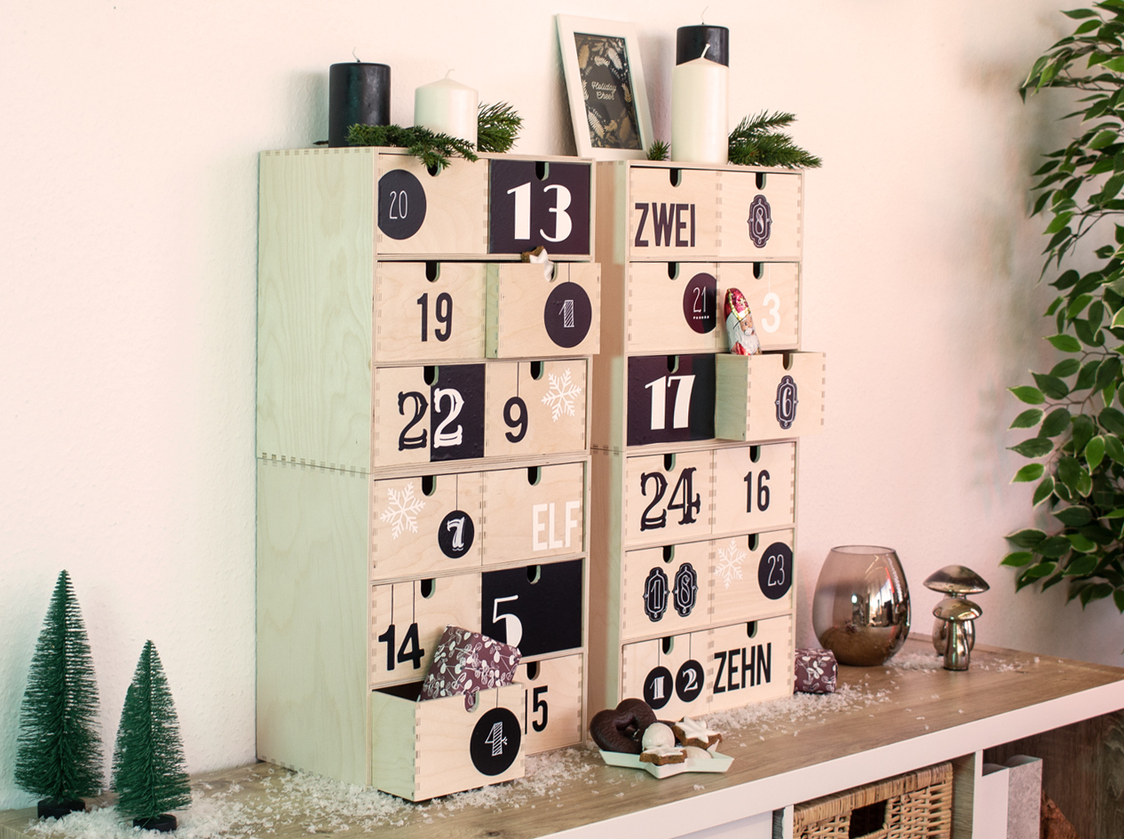 dcfix Möbel Klebefolie Dekofolie DIY Deko Weihnachten Adventskalender