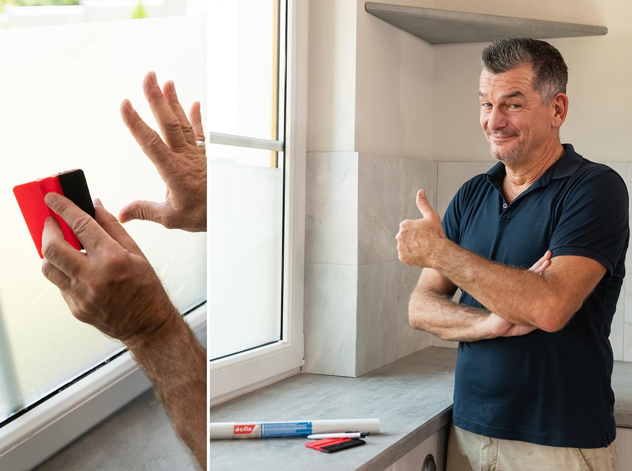 dcfix Fenster Dekofolie Fensterfolie DIY Deko Küche Privatsphäre