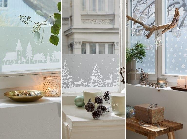 dcfix Fenster Glas Fensterfolie DIY Deko Wohnzimmer Winter Weihnachten