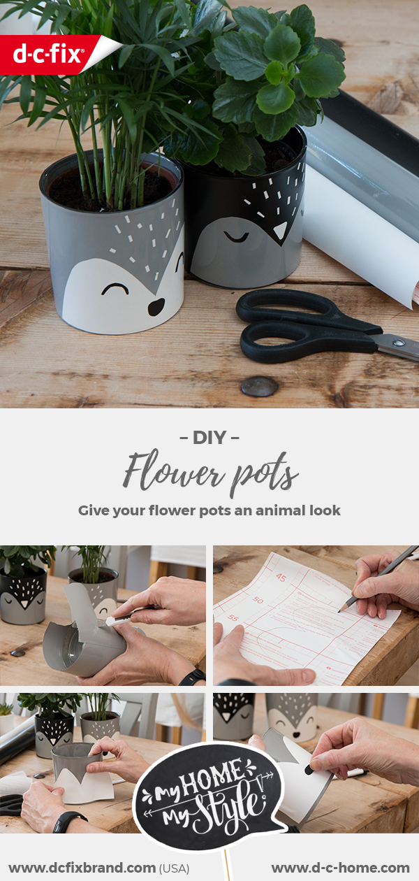 DIY animal flower pots