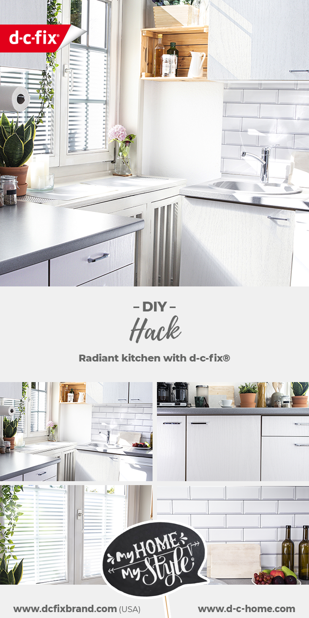 Moderne Küche in weiß mit d-c-fix®